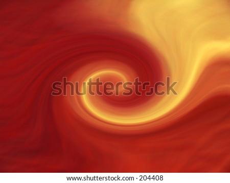 Photoshop creation to simulate lava vortex - stock photo