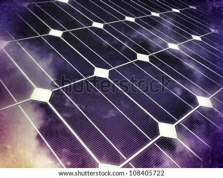 Photovoltaic cell - stock photo
