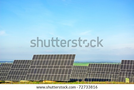Photovoltaic panels at Portugal. - stock photo