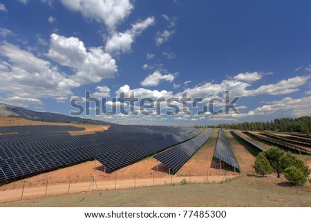 Photovoltaic power plant in Puyloubier, southern France