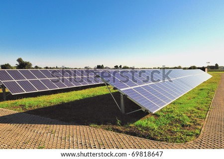 Photovoltaic power station - stock photo