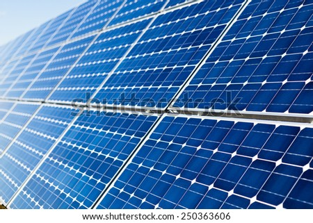 Photovoltaic solar panels background