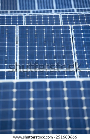 Photovoltaic Solar Panels For Renewable Electrical Energy Production - stock photo