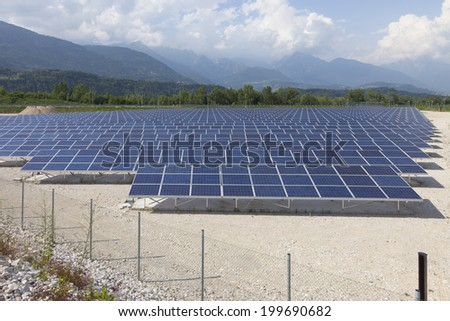 Photovoltaic solar  power station