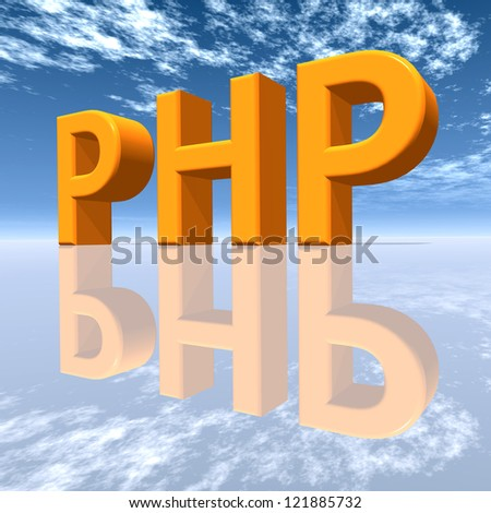 PHP Computer generated 3D illustration