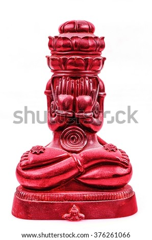 Phra pidta (Pung pra Karn) seated Buddha is the name of the popular amulets Buddhist temples in Thailand.   - stock photo