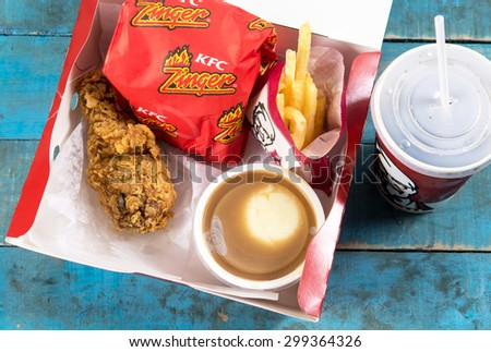 Kfc menu stock images royalty free images vectors - Kentucky french chicken ...