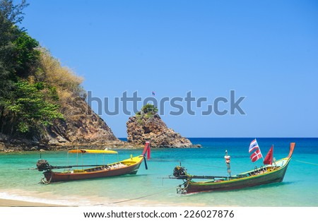 Phuket coastline, Banana Beach, sunny day - stock photo