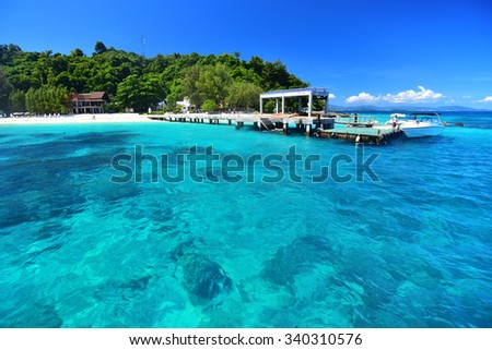 PHUKET, THAILAND -November 14, 2015  Maiton island , Clean tropical beach in Phuket, Thailand