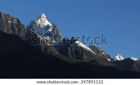 Phuletate and other high mountains in the Everest Region