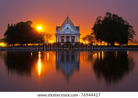 Phutthamonthon is a Buddhist park in the Phutthamonthon district, Nakhon Pathom Province of Thailand, west of Bangkok. - stock photo