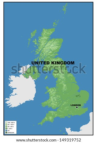 Physical map united kingdom stock illustration 149319752 shutterstock physical map of united kingdom sciox Image collections