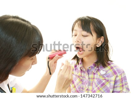 Physician with an examination  - stock photo