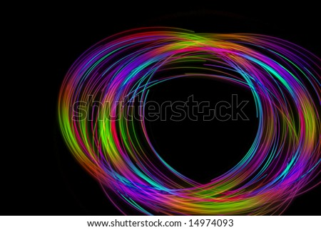 Physiogram spiral with red and blue lights - stock photo