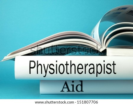 Physiotherapist (book titles) - stock photo