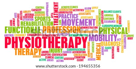 Physiotherapy as a Medical Career Concept Art - stock photo