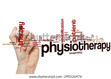 Physiotherapy word cloud concept - stock photo