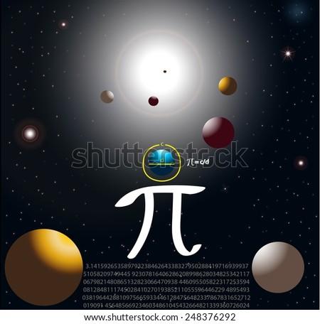 Pi definition - stock photo