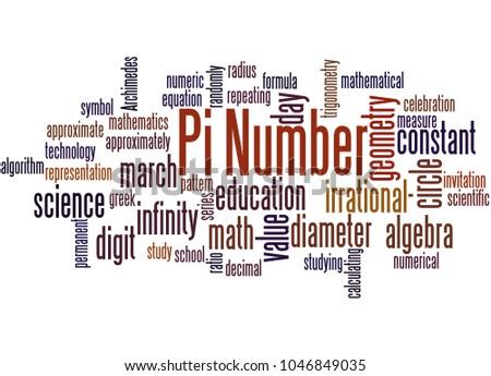 Pi Number Word Cloud Concept On Stock Illustration 1046849035