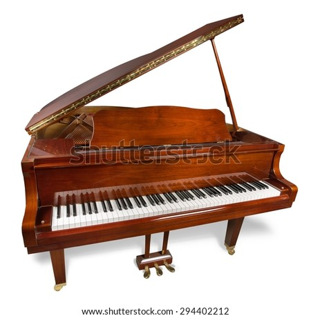 Piano, Antique, Old. - stock photo