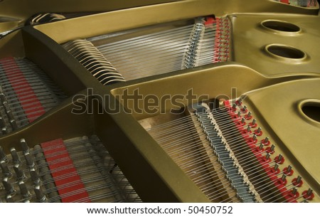 piano cast iron plate - stock photo