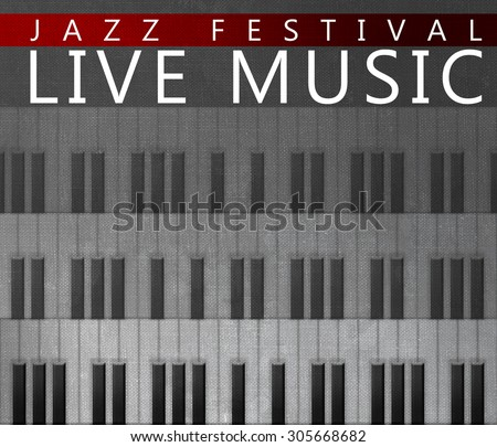 Piano concert poster illustration - stock photo