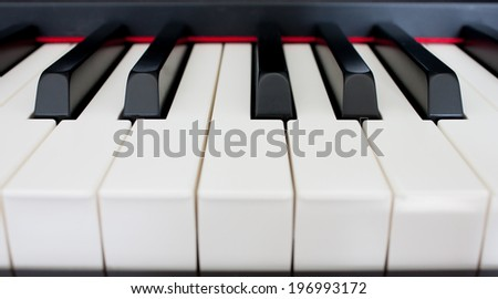 Piano in House - stock photo