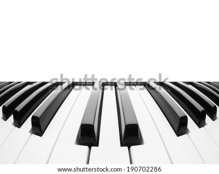 Piano keyboard. Abstract background with a field for text - stock photo