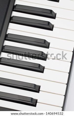 Piano keyboard in a macro image - stock photo