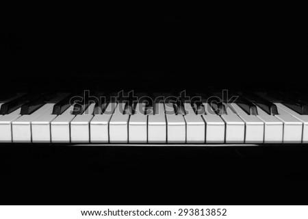 Piano, keyboard, jazz. - stock photo