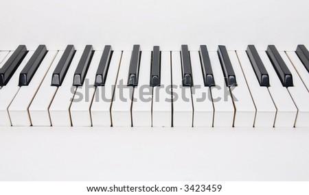 piano keys isolated - stock photo