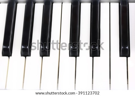 piano keys musical background