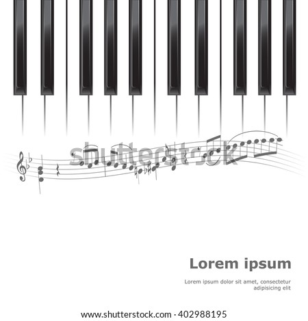 Piano Poster Background Template Keyboard With Music Notes