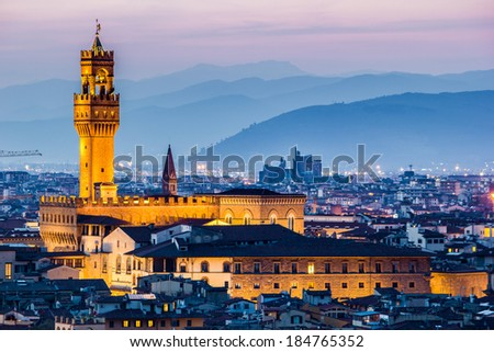 Piazza della Signoria, Florence, Italy - stock photo