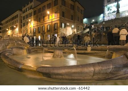 Piazza di Spagna, Rome. December 2004 - stock photo