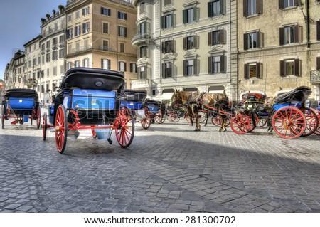 Piazza di Spagna Rome HDR - stock photo