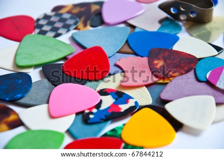 pick accessory for guitar - stock photo