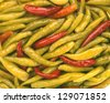 pickled peppers - stock photo