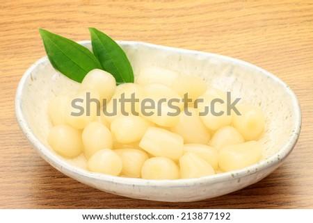 pickled shallot - stock photo