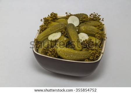 Pickles in a bowl - stock photo