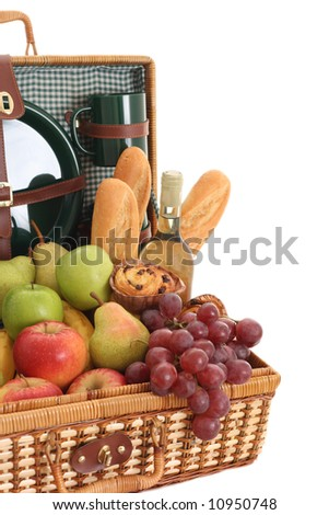 picnic basket full of fresh food - ready to go