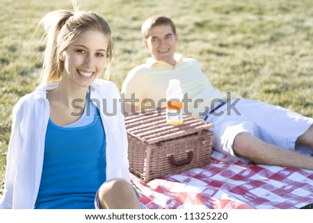 Picnic Date - stock photo
