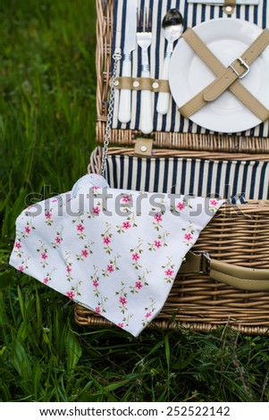 picnic set - stock photo