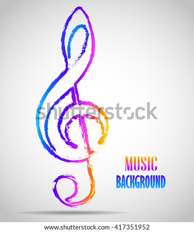 Pictograph of music key - stock photo