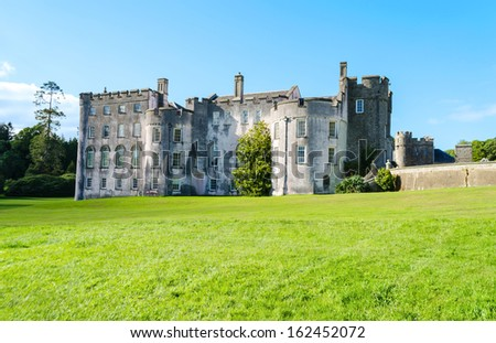 Picton Castle in Haverfordwest - Wales, United Kingdom - stock photo