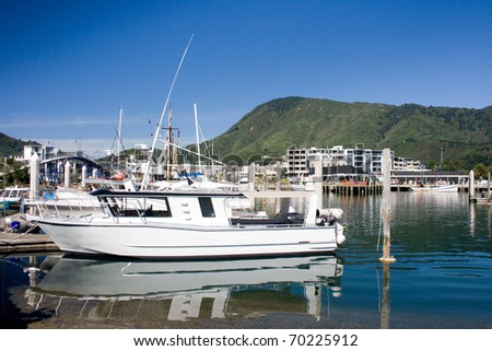 Picton marina, New Zealand