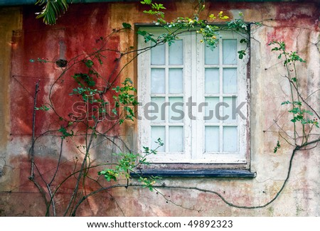 Pictoresque window - stock photo