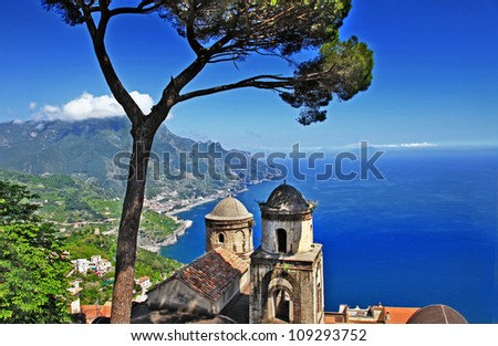 pictorial  Amalfi coast - Ravello - stock photo
