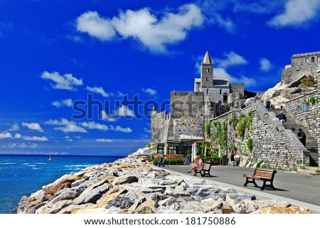 pictorial Italy - Portovenere, Cinque terre  - stock photo