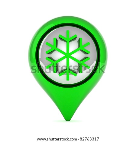 picture a beautiful, green, glossy icons on white background